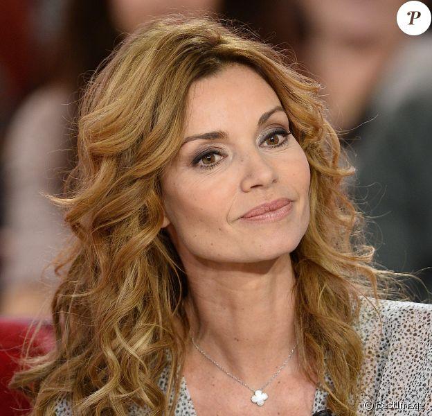 Ingrid Chauvin - Enregistrement de l'émission Vivement Dimanche à Paris le 14 janvier 2015.