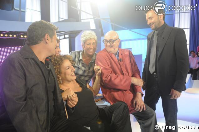 De g à d : Dove Attia, Valérie Genoux, Marianne James, Pascake, Jean-Pierre Coffe et Frédéric Lopez