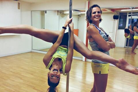 Laury Thilleman et Laure Manaudou : Fun et volupté en plein cours de pole-dance