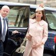 Kate Middleton, enceinte, et le prince William, duc et duchesse de Cambridge, assistaient au service organisé à l'abbaye de Westminster pour le Commonwealth Day, le 9 mars 2015 à Londres.