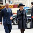 Le prince Charles et Camilla Parker-Bowles arrivent au service organisé à l'abbaye de Westminster pour le Commonwealth Day, le 9 mars 2015 à Londres.
