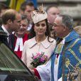 Kate Middleton, enceinte, assistait avec le prince William au service organisé à l'abbaye de Westminster pour le Commonwealth Day, le 9 mars 2015 à Londres.