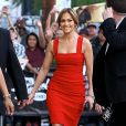 "Jennifer Lopez arrive à l'émission ""Jimmy Kimmel Live"" à Los Angeles, le 10 mars 2015"