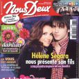 Hélène Segara et son fils Raphaël en couverture du magazine Nous Deux, du 29 mai 2012