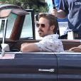 """Ryan Gosling sur le tournage du film """"The Nice Guys"""" à Los Angeles, le 3 février 2015."""
