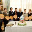 """Camilla Parker-Bowles, duchesse de Cornouailles, à la remise des prix """"Ambassadors Awards"""" à Clarence House à Londres, le 10 mars 2015"""