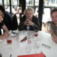 """Exclusif - Josée Dayan, Catherine Frot et Julie Depardieu déjeunent ensemble pour préparer le tournage de """"La tueuse caméléon"""", une fiction pour France 2 au restaurant Fouquet's à paris le 18 mars 2015."""