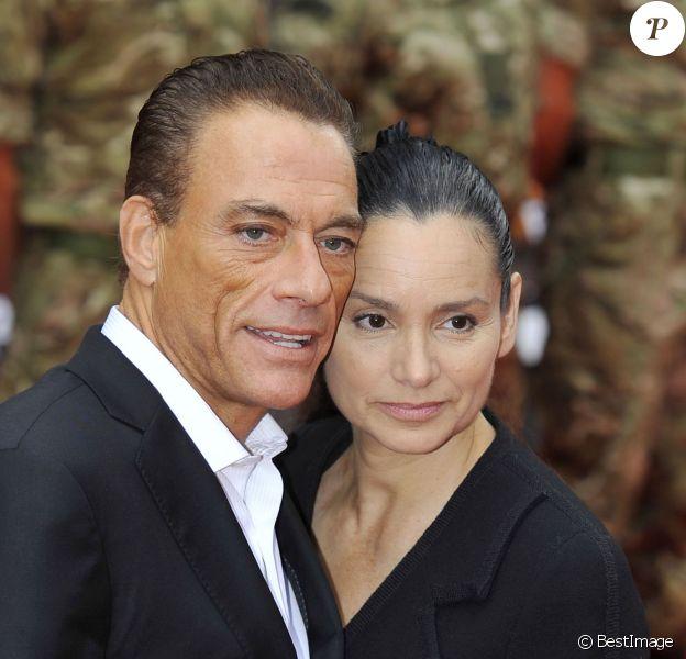 Jean-Claude Van Damme et Gladys Portugues, à Londres, le 13 août 2012.