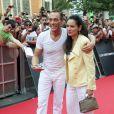 Jean-Claude Van Damme et Gladys Portugues, à Madrid, le 8 août 2012.