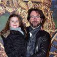 Alex Jaffray et sa fille assistent à l'avant-première du film  Cendrillon  au Grand Rex à Paris le 22 mars 2015.