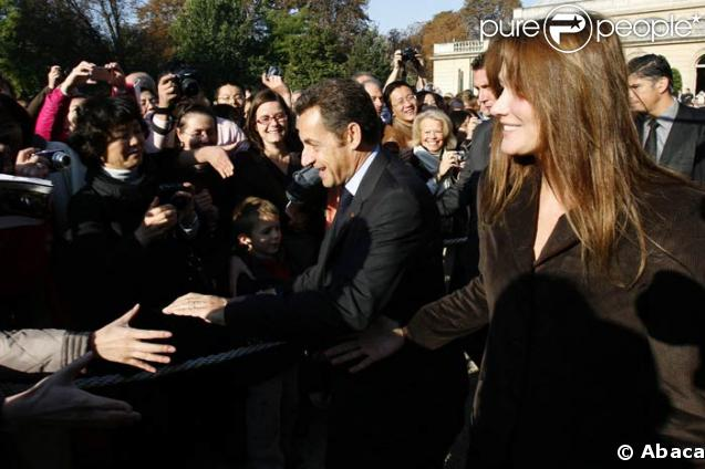 Nicolas Sarkozy et Carlita à l'Elysée le 20/09/08