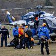 Le PGHM en attente - Les hélicoptères de la sécurité civile à Seyne les Alpes suite au crash de l'airbus A320 de Germanwings le 24 mars 2015