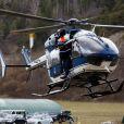 Les hélicoptères de la sécurité civile à Seyne les Alpes suite au crash de l'airbus A320 de Germanwings le 24 mars 2015
