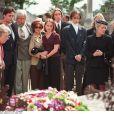 Les obsèques de Jean-Jacques Cousteau le 4 juillet 1997