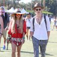 Vanessa Hudgens et son petit ami Austin Butler lors du 3ème jour du Festival de Coachella, le 13 avril 2014.