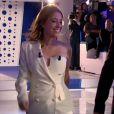 Léa Salamé sexy en tenue Jean Paul Gaultier - Emission  On n'est pas couché  sur France 2. Le 4 avril 2014.