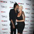 "Wiz Khalifa et Amber Rose a la soiree ""The Wiz Of TAO Halloween Spectacular"" a Las Vegas le 31 octobre 2013."