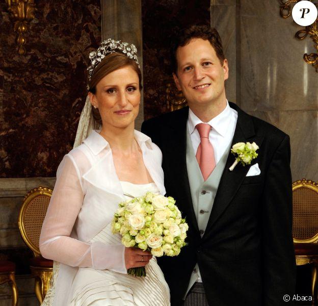 Le prince Georg Friedrich et la princesse Sophie de Prusse lors de leur mariage le 27 août 2011 à Potsdam (cérémonie religieuse en l'église de la paix, réception au palais Sanssouci). Le couple a accueilli le 2 avril 2015 son troisième enfant, la princesse Emma Marie.
