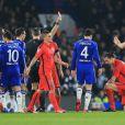 Zlatan Ibrahimovic expulsé lors du match de Ligue des champions entre le PSg et Chelsa, à Londres, le 11 mars 2015