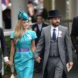Katherine Jenkins et Andrew Levitas au Ladies Day, Royal Ascot le 19 juin 2014