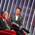 Exclusif - Enregistrement de l'émission  Le Divan  présentée par Marc-Olivier Fogiel avec Frédéric Mitterrand en invité. A Paris le 6 mars 2015.