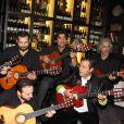 Chico and the Gypsies lors de l'inauguration du restaurant Saperlipopette! de Norbert Tarayre (Top Chef 3) à Puteaux, le 17 novembre 2014.
