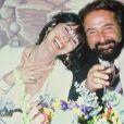 Richard Anthony et sa femme à la soirée Venise en octobre 1985.