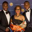 Freddy Drogba, Clotilde Drogba et Didier Drogba au gala de la fondation Didier Drogba à Londres le 18 avril 2015.