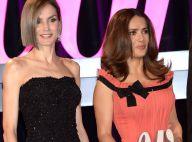 Letizia d'Espagne très fine et relookée face à Salma Hayek et sa fille Valentina