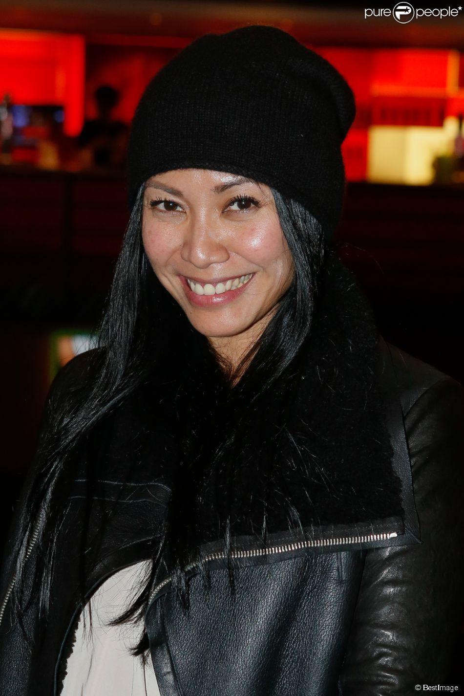 Exclusif - Anggun - Concert de Véronic Dicaire à l'Olympia à Paris. Le 19 février 2015