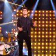 David Thibault et Véronique Sanson dans la finale de  The Voice 4  sur TF1, le samedi 25 avril 2015.