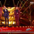 Mika et David Thibault, dans la finale de  The Voice 4  sur TF1, le samedi 25 avril 2015.