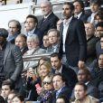 Ary Abittan assiste au match PSG-Lille lors de la 34ème journée au Parc des Princes à Paris, le 25 avril 2015.