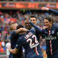 Le Paris Saint-Germain victorieux face à Lille sur le score de 6-1, le samedi 25 avril 2015.