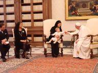 Madeleine de Suède, enceinte : Leonore toute mignonne face au pape François !