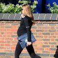Abbey Clancy, enceinte, à Londres, le 27 avril 2015
