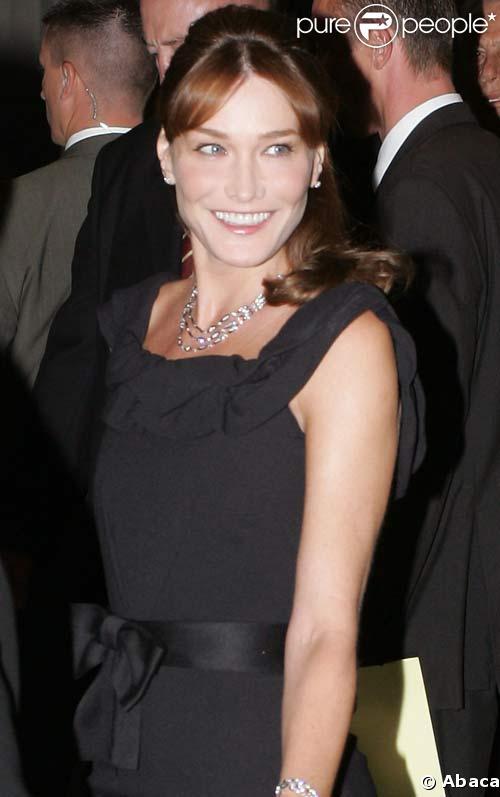 Carla Bruni à New York, septembre 2008