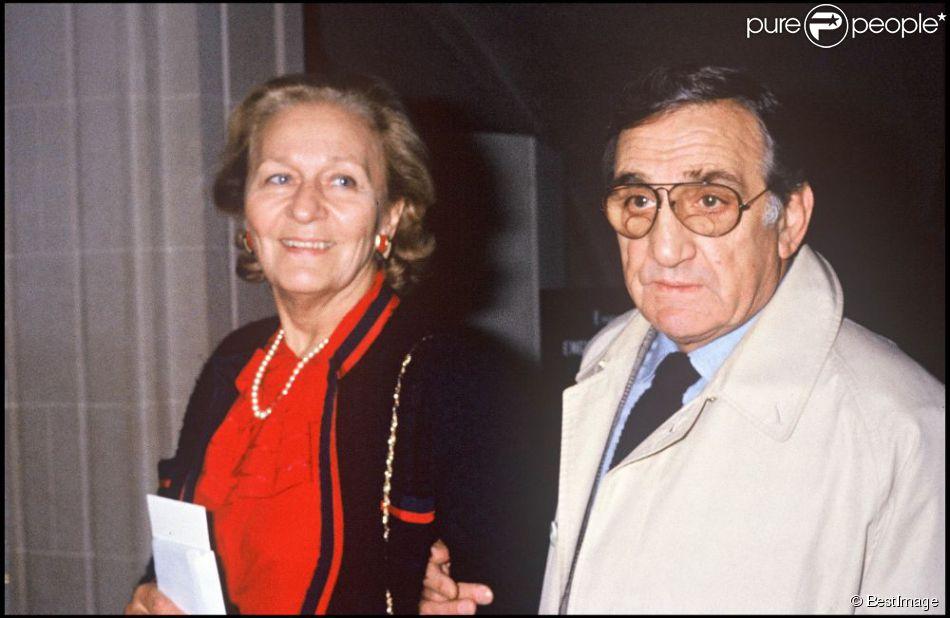 Odette et Lino Ventura en 1984