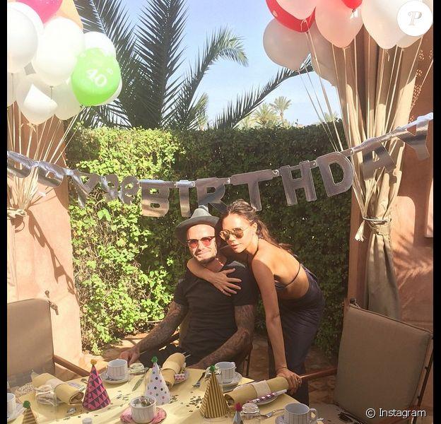 David Beckham fête ses 40 ans avec Victoria à Marrakech le 2 mai 2015.