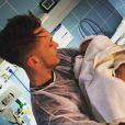 Lucas Ocampos avec sa petite Luisana née le 29 avril 2015 à Monaco