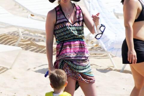 January Jones : Sous le soleil avec son fils Xander, elle s'éclate sur un paddle