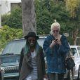 Exclusif - Ireland Baldwin et sa compagne Angel Haze vont déjeuner avec une amie à Studio City le 30 décembre 2014