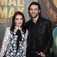"Priscilla Presley et son fils Navarone Anthony Garibaldi à la première du film ""Mad Max - Fury Road"" à Los Angeles le 7 mai 2015."