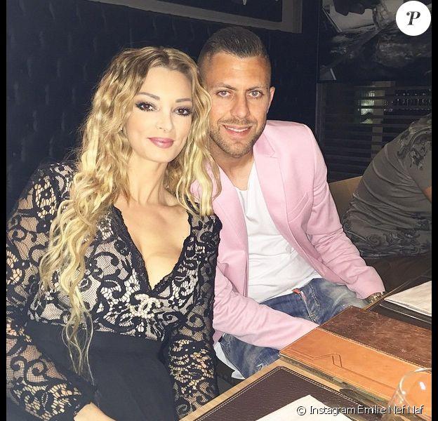 Emilie Nef Naf et Jérémy Menez le 9 mai 2015 à Milan.