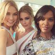 Karlie Kloss, Doutzen Kroes et Liya Kebede, ravissantes sur la Croisette. Cannes, le 13 mai 2015.