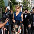 Alice Taglioni se rend au Palais des Festivals. Cannes, le 13 mai 2015.