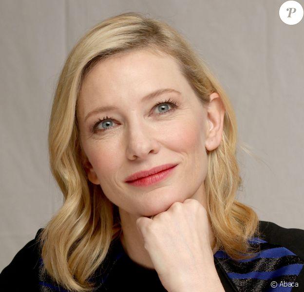 Cate Blanchett lors de la conférence de presse de Cendrillon à Los Angeles le 2 mars 2015