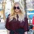 Kesha à la sortie de son hôtel à New York, le 13 février 2015.