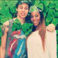 Brittney Griner et Glory Johnson, qui se sont mariées le 8 mai 2015, ont été suspendues sept matchs par la WNBA suite à une affaire de violences conjugales au mois d'avril, quelques jours avant leur union. Photo Instagram du 18 mars 2015