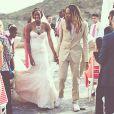 Glory Johnson et Brittney Griner, qui se sont mariées le 8 mai 2015, ont été suspendues sept matchs par la WNBA suite à une affaire de violences conjugales au mois d'avril, quelques jours avant leur union. Photo Instagram du 9 mai 2015